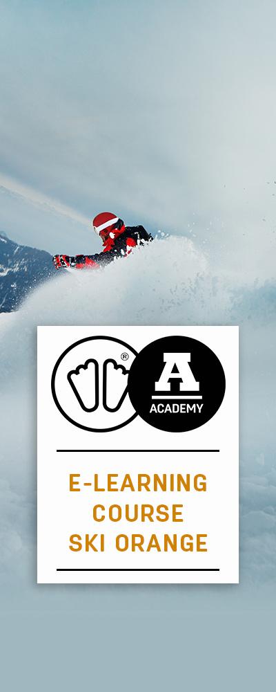 E-learning ski orange sidas academy